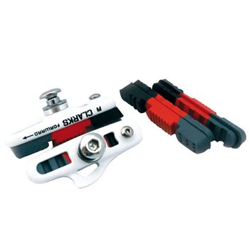 Clarks Triple Compound Road Brake Pads & Holders + Extra Pads  - Click to view a larger image