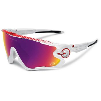 Oakley Jawbreaker White / Prizm Road (TDF)  - Click to view a larger image