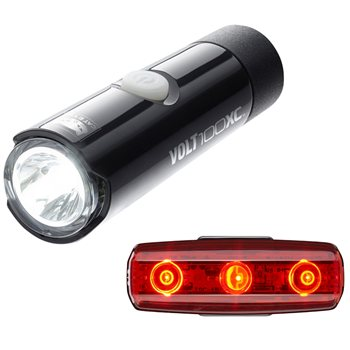 Cateye Volt 100 XC Front And Rapid Micro Rear Light Set  - Click to view a larger image