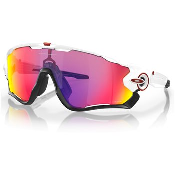 Oakley Jaw Breaker Polished White / Prizm Road  - Click to view a larger image