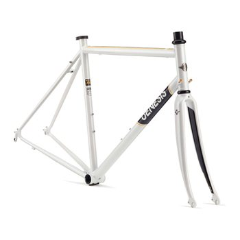 Genesis Equilibrium 725 Steel Frame & Fork - 2017 White  - Click to view a larger image