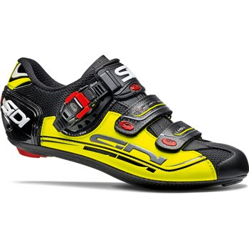 Sidi Genius 7 Fit Carbon Road Cycling Shoes - Fluro Yellow  - Click to view a larger image