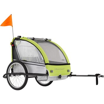 Madison AT5 Alloy 2 Seat Child Trailer  - Click to view a larger image
