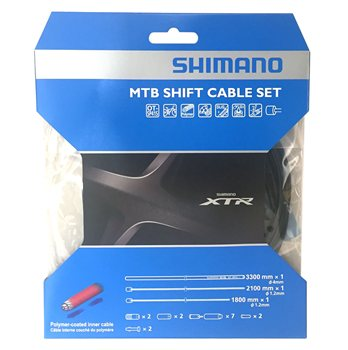 Shimano XTR Polymer Coated MTB Shift Cable Set  - Click to view a larger image