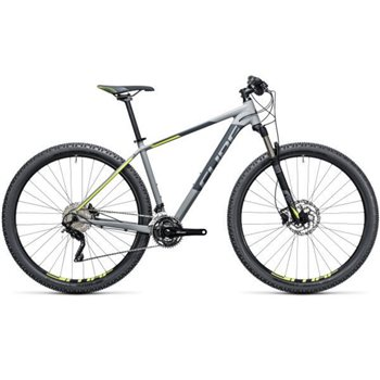 Cube Attention SL Hardtail Grey & Yellow - 2017  - Click to view a larger image