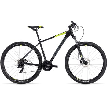 Cube Aim Pro Hardtail Black & Flash Yellow - 2018  - Click to view a larger image