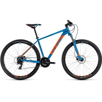 Cube Aim Pro Hardtail Blue & Orange - 2018  - Click to view a larger image