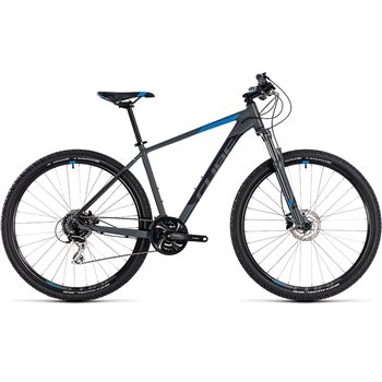 Cube Aim Race Hardtail Grey & Blue - 2018  - Click to view a larger image