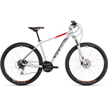 Cube Aim Race Hardtail White & Red - 2018  - Click to view a larger image