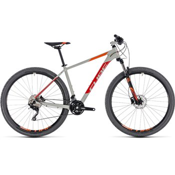 Cube Attention Hardtail Grey & Red - 2018  - Click to view a larger image