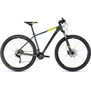 Cube Attention SL Hardtail Grey & Flash Yellow - 2018  - Click to view a larger image
