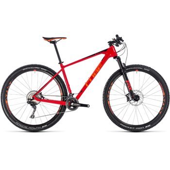 Cube Reaction C:62 Race Hardtail Red & Orange - 2018  - Click to view a larger image
