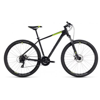 Cube Aim Hardtail Black & Green - 2018  - Click to view a larger image