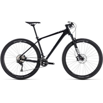 Cube Reaction SL Hardtail Black & White - 2018  - Click to view a larger image