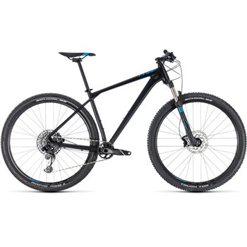 Cube Reaction Race Hardtail Black & Blue - 2018  - Click to view a larger image