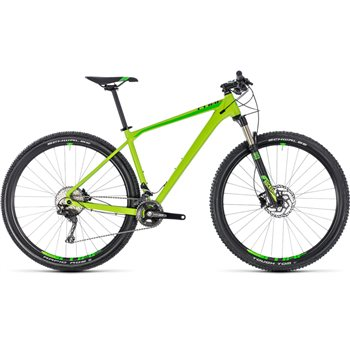 Cube Reaction Pro Hardtail Green & Black - 2018  - Click to view a larger image