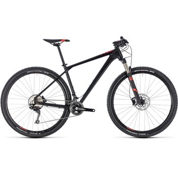 Cube Reaction Pro Hardtail Black & Red - 2018  - Click to view a larger image