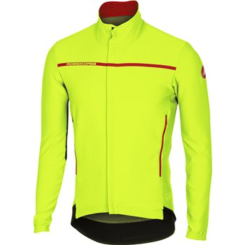 Castelli Perfetto Long Sleeve Jersey - Fluo Yellow  - Click to view a larger image