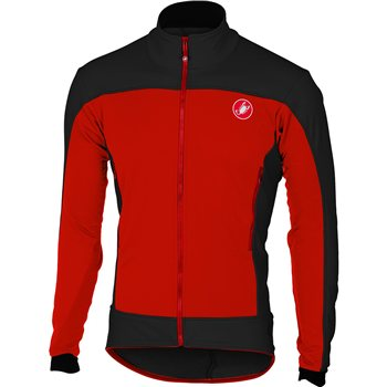 Castelli Mortirolo 4 Jacket - Red & Black  - Click to view a larger image