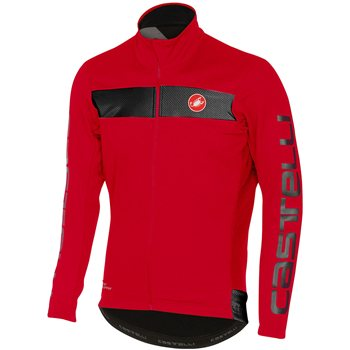 Castelli Raddoppia Reflective Jacket - Red & Black  - Click to view a larger image