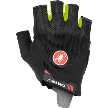 Castelli Arenberg 2 Gel Gloves - Black & Fluo Yellow  - Click to view a larger image
