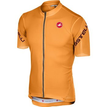 Castelli Entrata 3 Cycling Jersey - Orange  - Click to view a larger image