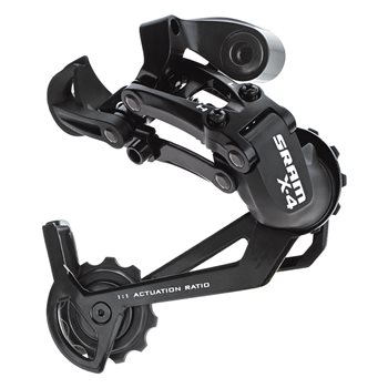 SRAM X4 Long Cage 7/8 Speed Rear Derailleur  - Click to view a larger image