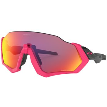 Oakley Flight Jacket Neon Pink Prizm Road  - Click to view a larger image