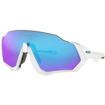 Oakley Flight Jacket Matt White Prizm Sapphire Iridium  - Click to view a larger image
