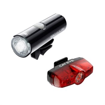 Cateye Volt 400 XC & Rapid Mini USB Rechargeable Light Set  - Click to view a larger image