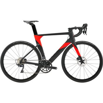 Cannondale SystemSix Carbon Ultegra Road Bike - Black & Red - 2019  - Click to view a larger image