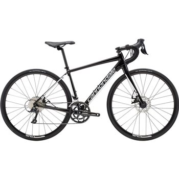 Cannondale Synapse Disc Womens Sora Road Bike - Black & White - 2019  - Click to view a larger image