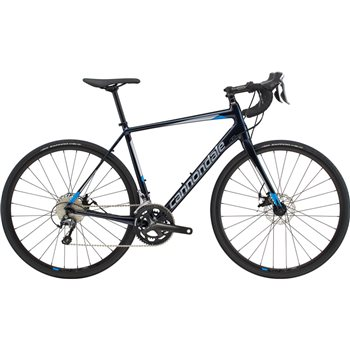Cannondale Synapse Disc Tiagra Road Bike - Black / Silver / Blue - 2019  - Click to view a larger image