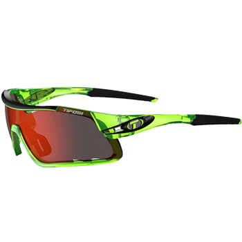 Tifosi Davos Crystal Neon Green/ Red Clarion Interchange Lens Sunglasses  - Click to view a larger image