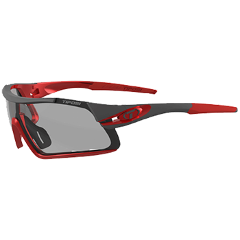 Tifosi Davos Race Red/ Fototec Smoke Lens Sunglasses  - Click to view a larger image