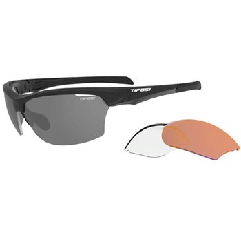 Tifosi Intense Matt Black Interchangeable Lens Sunglasses  - Click to view a larger image