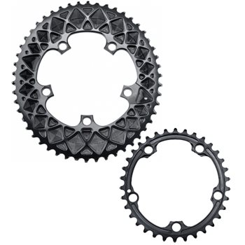 absoluteBLACK Road Oval Chainring Ror 110 BCD Cranks  - Click to view a larger image