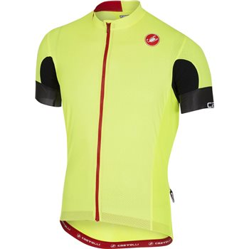 Castelli Aero Race 4.1 Sold Jersey - Fluo Yellow  - Click to view a larger image