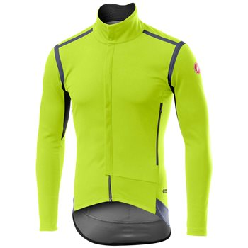 Castelli Perfetto ROS Jacket - Fluo Yellow  - Click to view a larger image