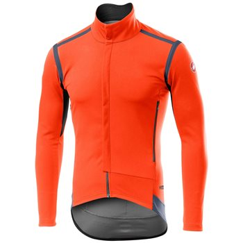 Castelli Perfetto ROS Long Sleeve Jacket - Orange  - Click to view a larger image