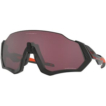 Oakley Flight Jacket Matt Black Ignite / Prizm Road Black  - Click to view a larger image