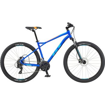 GT Aggressor Expert 29 Inch MTB - Blue & Orange  - Click to view a larger image