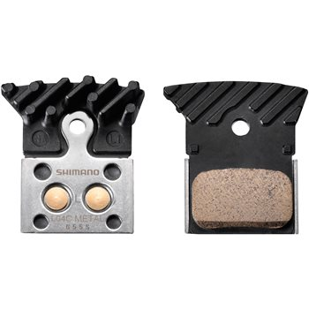 Shimano L04C Road Disc Brake Pads With Ice Tech Fin - Sintered  - Click to view a larger image