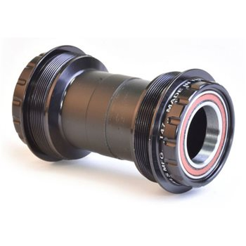 Wheels Manufacturing T47 Threaded Bottom Bracket - Outboard Angular Contact Bearings  - Click to view a larger image