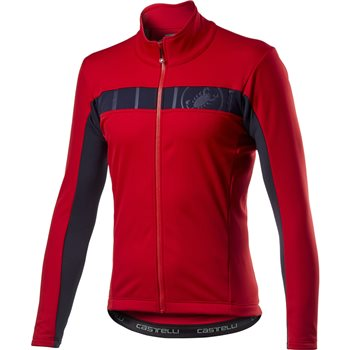 Castelli Mortirolo VI Jacket - Red  - Click to view a larger image