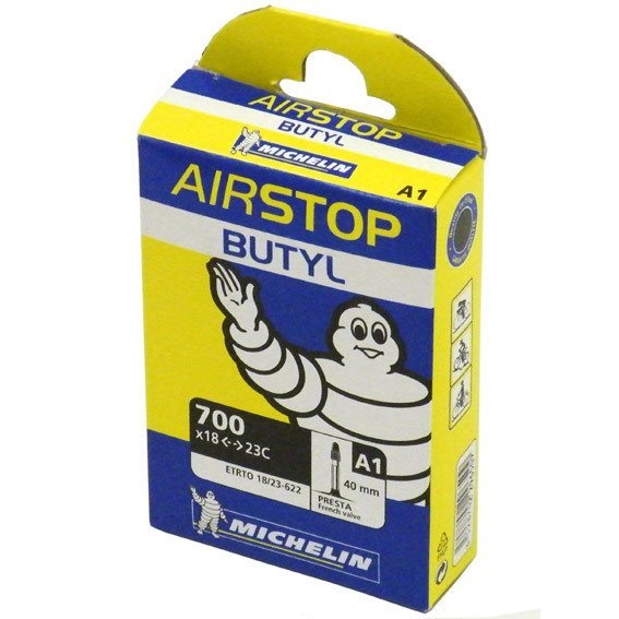 Michelin Airstop A1 Butyl Inner Tube - 700c X 18-25mm 1